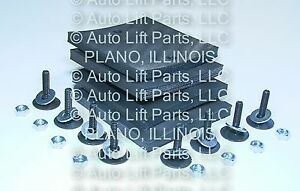 Upgrade A1104 6 Ply 4 Square Rubber Arm Pads Challenger Lift Cl9 Cl10 Set Of 4