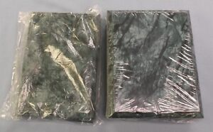 Mixed Lot Of 7 Trophy Parts Emerald Green Finish Plaque Boards