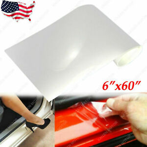 6 X 60 Car Clear Door Sill Edge Paint Protection Anti Scratch Vinyl Film Sheet