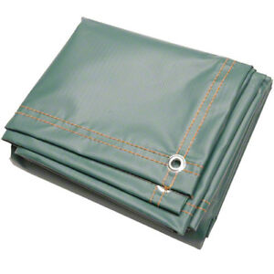 20 X 30 Flame Retardant Tarp 13 Oz Vinyl Laminated Polyester Made In Usa Green