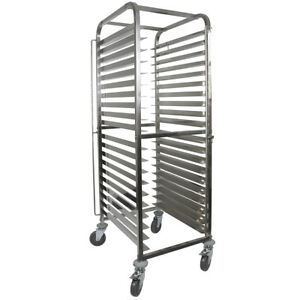 Vollum Knock Down Bakery Rack All Stainless For Full Size Sheet Pans 20 Trays