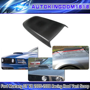 For 2005 2009 Ford Mustang Gt V6 Abs Racing Hood Scoop Vent Black