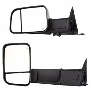 Power Heated Telescoping Tow Mirror L R For 98 01 Dodge Ram 1500 98 02 2500 3500