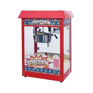 Winco Pop 8r Showtime Electric 8 Oz Popcorn Machine 120v 1350w Red