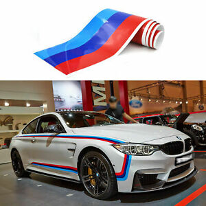 59 M Colored Stripe Car Sticker For Bmw Exterior Cosmetic Hood Roof Bumpers