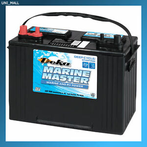 Deka Genuine New Dp27 Marine Deep Cycle Starting Battery 800amp Cca group 27