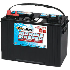 Deka Genuine New Dc27 Marine Deep Cycle Battery 705amp Cca group 27