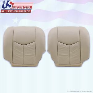 2003 2006 Cadillac Escalade Driver Passenger Bottom Leather Seat Covers Tan