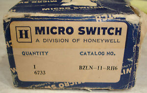 New Micro Switch Bzln 11 rh6 Enclosed Precision Switch Honeywell Same Day Ship