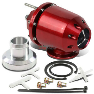 Universal Adjustable Turbo Super Charger Red Sqv Blow Off Valve Bov Adapter