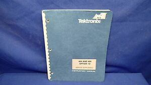 Tektonix 464 And 466 Option 10 Service Supplement Manual