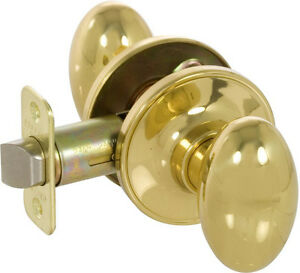 Solid Brass Door Knob Set Passage 2 38 Back Set With Latch And Hardware