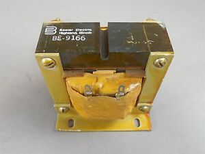 Basler Electric Be 9166 Rf Transformer 4 tab Flange Mount Used