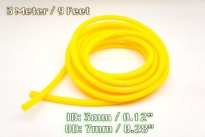 3 Metre Yellow Silicone Vacuum Hose Air Engine Bay Dress Up 3mm Fit Audi
