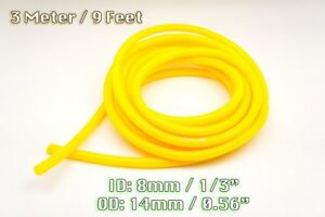3 Metre Yellow Silicone Vacuum Hose Air Engine Bay Dress Up 8mm Fit Audi