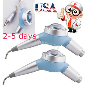 2x Dental Hygiene Prophy Air Polisher Unit Tooth Polishing Handpiece 2 Hole Usa