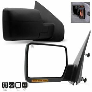 Pair For 2004 2006 Ford F150 Pickup Truck Power heated turn Signal Side Mirrors