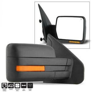 For 2007 14 Ford F150 Power Heated Led Signal Puddle View Mirror Passenger Side