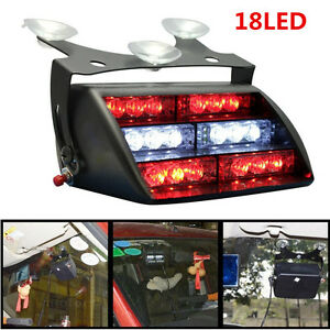 18led Firefighter Vehicle Car Truck Emergency Dash Warning Strobe Flash Light