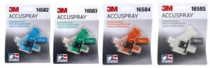 3m 1 2 1 3 1 4 1 8 Accuspray Atomizing Heads Single White Spray Gun Tip 1 Each