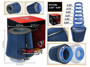 Blue Universal Inlet Air Intake Cone Open Top Dry Replacement Filter For Ford