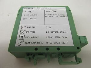 Phoenix Contact Mcr s5 u i 4 Art nr 2808705 Current Transformer 41984ev