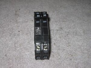 General Electric 50 Amp 2 Pole Tandem Circuit Breaker Thqp5050 Thqp250