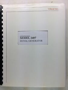 Wavetek 2407 Signal Generator Instruction Manual P n 6510 00 0105