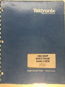 Tektronix 492 492p Spectrum Analyzer Service Instruction Manual Vol1 070 2727 02