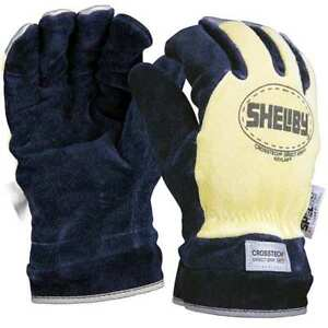 Firefighters Gloves m cowhide Lthr pr Shelby 5285m