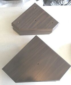 6 Sets Of Trophy Parts Walnut Finish For 3 Post Style 8 Lid 10 Base 12pcs