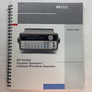 Hp 33120a Function Generator waveform Generator Service Guide P n 33120 90014