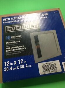 Everbilt Metal Access Panel Door With Frame 12in X 12in Eb12x12pc Sdl