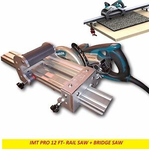 Imt Pro Wet Cutting Makita Motor Rail Bridge Saw Combo For Granite 12 Ft Rail