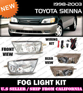 Complete Fog Light Kit For 98 99 00 01 02 03 Toyota Sienna Switch Wiring