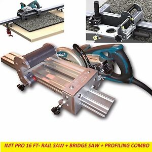 Imt Pro Wet Makita Motor Rail Bridge Saw Edge Profile For Granite 16 Ft Rail