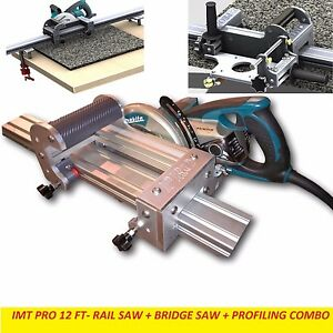 Imt Pro Wet Makita Motor Rail Bridge Saw Edge Profile For Granite 12 Ft Rail