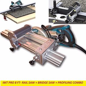 Imt Pro Wet Makita Motor Rail Bridge Saw Edge Profile For Granite 8 Ft Rail