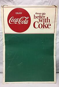 VINTAGE THINGS GO BETTER WITH COKE COCA COLA SIGN MENU BOARD ADVERTISING DISPLAY