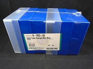 Genemate 50ml 16 slot Polypropylene Tube Blue Cryogenic Freezer Box pack Of 2