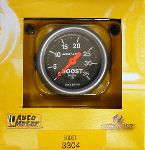 Auto Meter 3304 Sport Comp Mechanical Boost Pressure Gauge 0 35 Psi 2 1 16