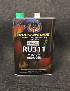 House Of Kolor Medium Urethane Reducer Kosmic Reducer Gallon Ru311g