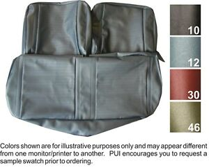 1967 Chevrolet Chevy Ii Nova Non Ss Front Bench Coupe Rear Seat Covers Pui