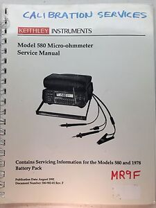 Keithley 580 Micro ohmmeter Service Manual W schematics P n 580 902 01 Rev f