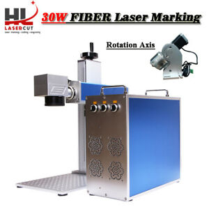 Powerful 30w Portable Fiber Laser Marking Machine For Metal Non metal Material
