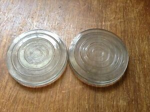 Rare Pair Cowl Fender Clear 2 Glass Auto Car Truck Vintage Back Up Light Lens