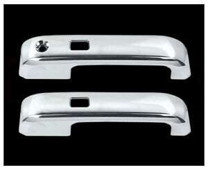 Fit 15 16 Ford F150 2 Door Handle Cover W O Passenger Keyhole With Smart Key