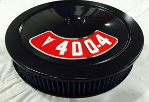 Black 14 Air Cleaner Blue Washable Filter 14x3 Pontiac 400 Decal Included New