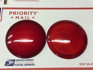 Nos Pair Vintage Red 4 9 16 Glass Lens Tail Light Lamp Auto Car Antique Truck