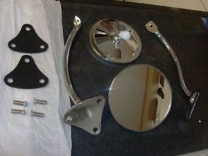 1955 1956 1957 1958 1959 Chevrolet Truck Exterior Mirror Kit 5 Inch Round Smooth